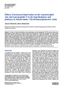 Effects of maternal deprivation on the ... - Semantic Scholar