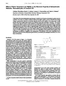 Effects of Matrix Temperature and Rigidity on the Electronic Properties ...