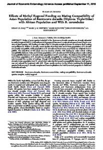 Effects of Methyl Eugenol Feeding on Mating ... - QUT ePrints
