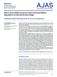 Effects of microbial enzymes on starch and