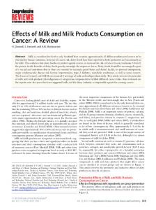 Effects of Milk and Milk Products Consumption ... - Wiley Online Library