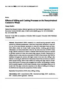 Effects of Milling and Cooking Processes on the ... - BioMedSearch