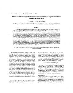 Effects of mineral supplementation on bio ...