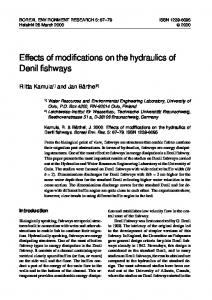 Effects of modifications on the hydraulics of Denil fishways - Boreal ...