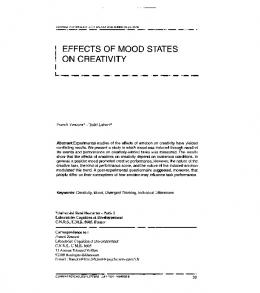 effects of mood states on creativity