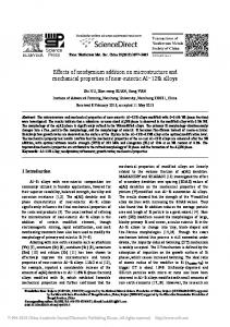 Effects of neodymium addition on microstructure and ...