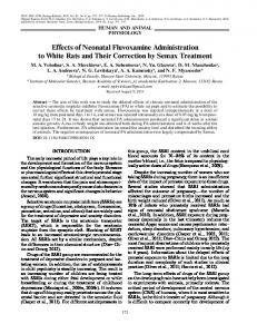 Effects of Neonatal Fluvoxamine Administration to ... - Springer Link