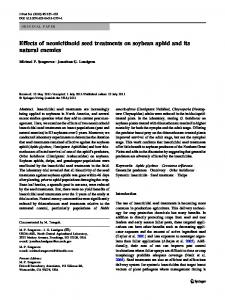 Effects of neonicitinoid seed treatments on soybean aphid and its ...