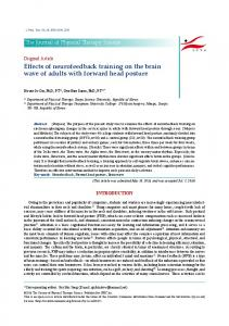 Effects of neurofeedback training on the brain wave ... - J-Stage journals