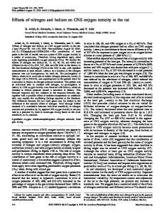Effects of nitrogen and helium on CNS oxygen toxicity in ... - CiteSeerX