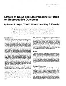 Effects of Noise and Electromagnetic Fields - NCBI