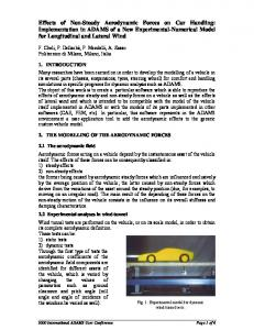 Effects of Non-Steady Aerodynamic Forces on Car Handling - CiteSeerX