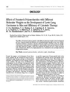 Effects of Nonstarch Polysaccharides with Different Molecular Weights ...