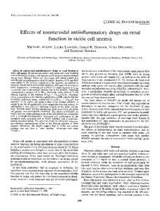 Effects of nonsteroidal antiinflammatory drugs ... - Kidney International