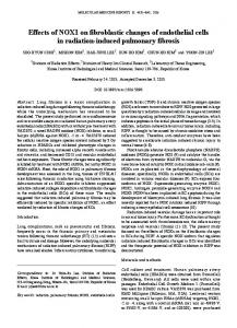 Effects of NOX1 on fibroblastic changes of endothelial cells in ...