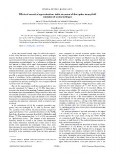 Effects of numerical approximations in the ... - APS Link Manager