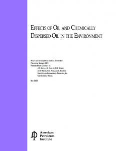 effects of oil and chemically dispersed oil in the ... - DiscountPDH