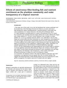 Effects of omnivorous filter-feeding fish and nutrient ... - PURE