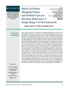 Effects of Online Shopping Values and Website Cues on Purchase ...