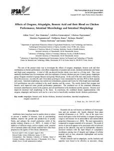 Effects of Oregano, Attapulgite, Benzoic Acid and their Blend ... - J-Stage