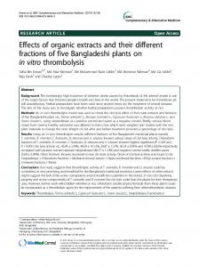 Effects of organic extracts and their different
