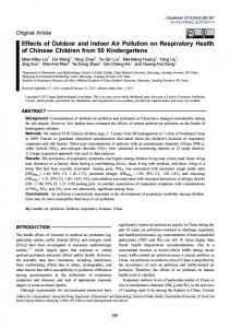 Effects of Outdoor and Indoor Air Pollution on ... - Semantic Scholar