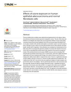 Effects of ozone exposure on human epithelial ... - PLOS