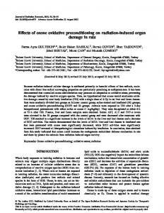 Effects of ozone oxidative preconditioning on ... - BioMedSearch