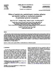 Effects of particle size, particle/matrix interface adhesion and particle ...