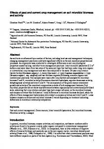 Effects of past and current crop management on soil ... - CiteSeerX