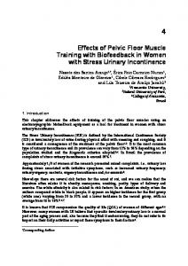 Effects of Pelvic Floor Muscle Training with