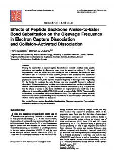 Effects of Peptide Backbone Amide-to-Ester Bond Substitution on the ...