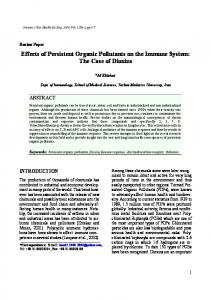 Effects of Persistent Organic Pollutants on the Immune System: The ...