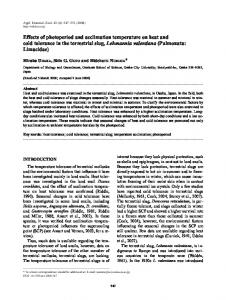 Effects of photoperiod and acclimation temperature on heat and cold ...