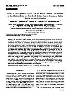 Effects of Photosynthetic Photon Flux and Carbon