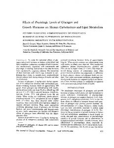 Effects of Physiologic Levels of Glucagon and Growth Hormone ... - JCI