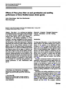 Effects of Pinus pinea litter on seed germination and ... - Springer Link