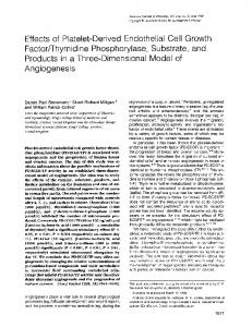 Effects of Platelet-Derived Endothelial Cell Growth Factor/Thymidine ...