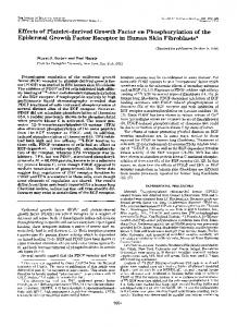 Effects of Platelet-derived Growth Factor on Phosphorylation of the ...