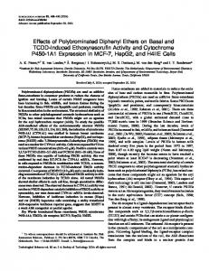Effects of Polybrominated Diphenyl Ethers on Basal and TCDD ...