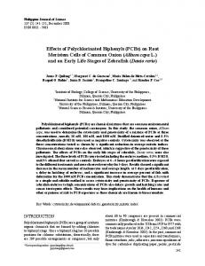 Effects of Polychlorinated Biphenyls (PCBs) on ... - Semantic Scholar