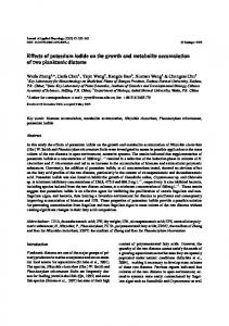 Effects of potassium iodide on the growth and ... - Springer Link