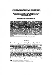EFFECTS OF PRECIPITATION AND AIR TEMPERATURE ON