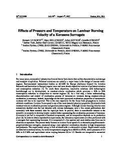 Effects of Pressure and Temperature on Laminar