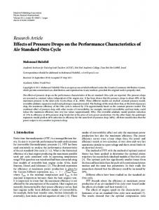 Effects of Pressure Drops on the Performance Characteristics of Air ...