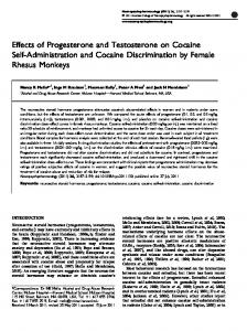 Effects of Progesterone and Testosterone on Cocaine Self ... - Nature