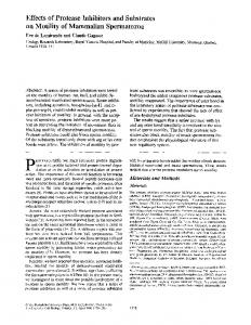 Effects of Protease Inhibitors and Substrates on Motility ... - Europe PMC