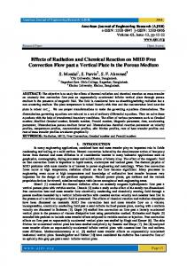 Effects of Radiation and Chemical Reaction on
