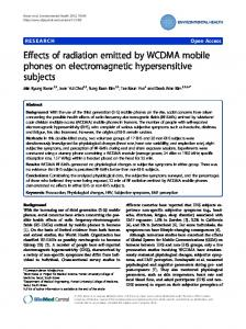 Effects of radiation emitted by WCDMA mobile phones on ...