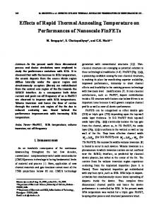 Effects of Rapid Thermal Annealing Temperature on ... - CiteSeerX